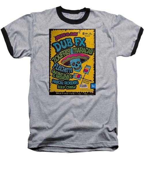 Dub Fx And Zoufris Maracas Poster Baseball T-Shirt