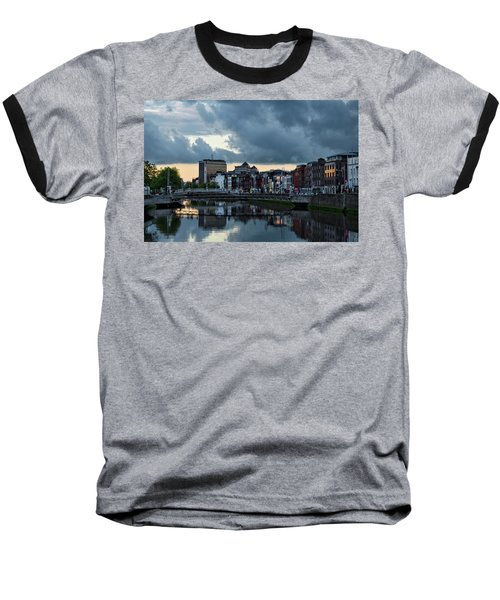 Dublin Sky At Sunset Baseball T-Shirt