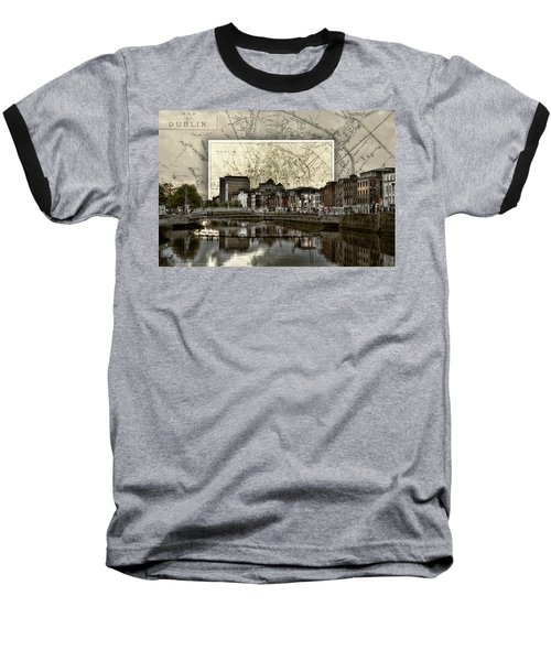 Dublin Skyline Mapped Baseball T-Shirt