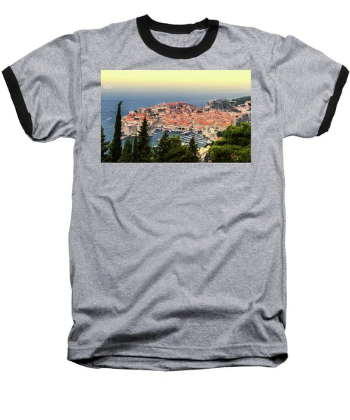 Dubrovnik Old City On The Adriatic Sea, South Dalmatia Region, C Baseball T-Shirt