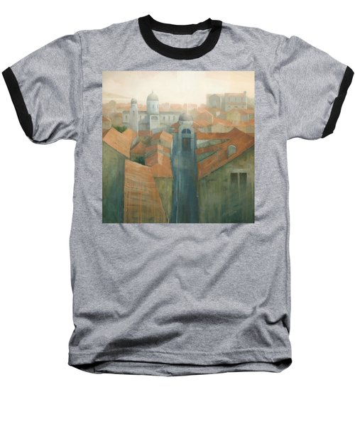 Dubrovnik Rooftops Baseball T-Shirt by Steve Mitchell