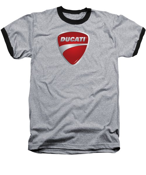 Baseball T-Shirt featuring the photograph Ducati By Moonlight by Movie Poster Prints