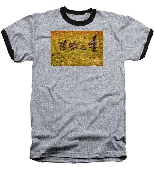 Duck Family I Baseball T-Shirt by Cassandra Buckley