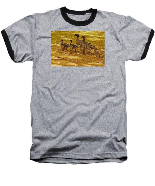 Duck Family II Baseball T-Shirt