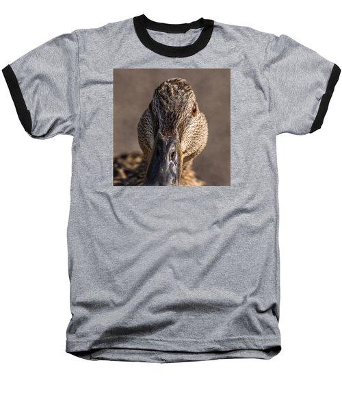 Duck Headshot Baseball T-Shirt