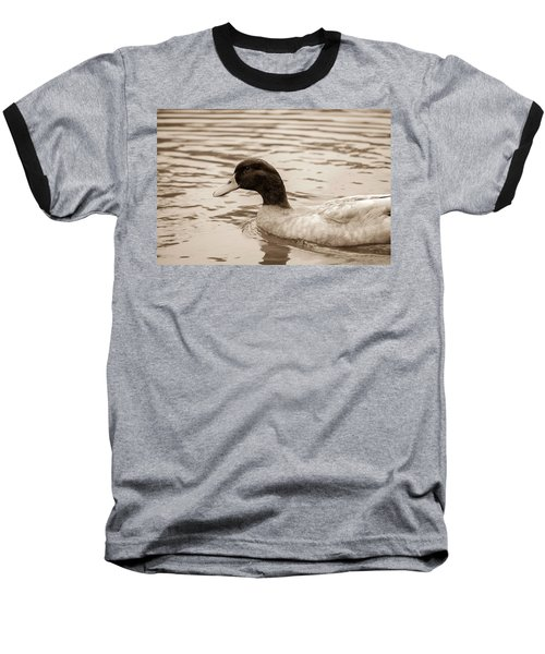 Duck In Pond Baseball T-Shirt