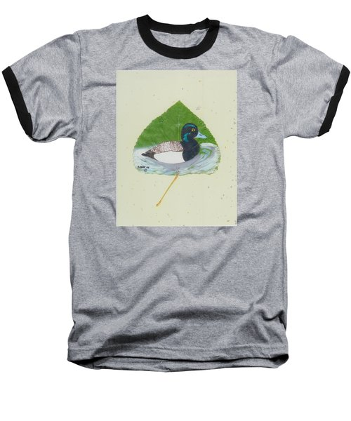 Duck On Pond #2 Baseball T-Shirt by Ralph Root
