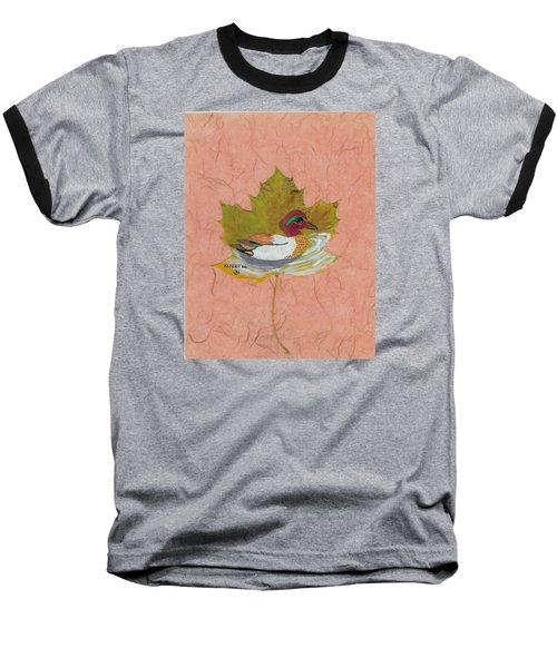 Duck On Pond Baseball T-Shirt by Ralph Root