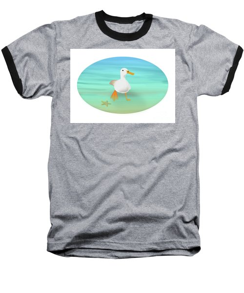 Duck Paddling At The Seaside Baseball T-Shirt