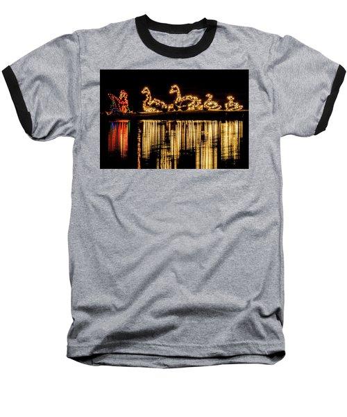 Duck Pond Christmas Baseball T-Shirt