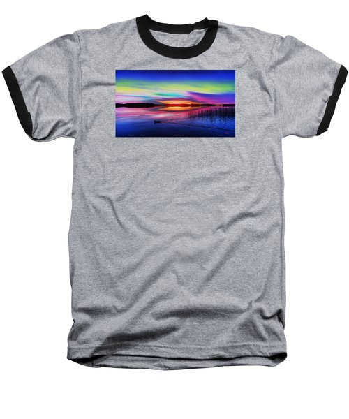 Duck Sunset Baseball T-Shirt