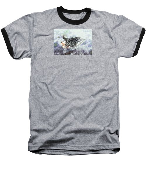 Baseball T-Shirt featuring the photograph Duck With Fine Plumage by Nareeta Martin