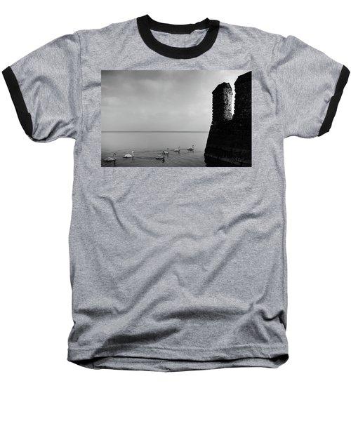 Ducks In Lake Garda, Italy Baseball T-Shirt