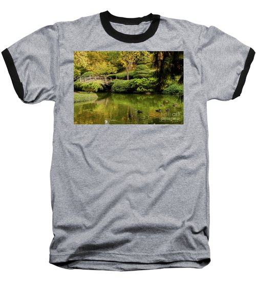 Baseball T-Shirt featuring the photograph Ducks In Summertime by Iris Greenwell