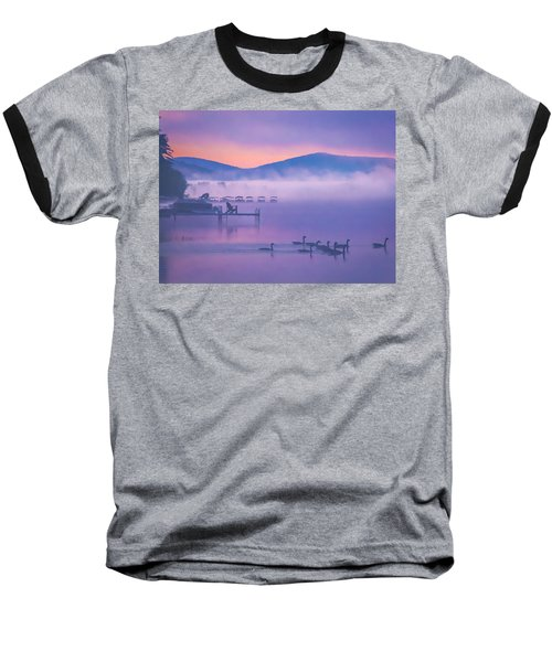 Ducks Under Fog Baseball T-Shirt