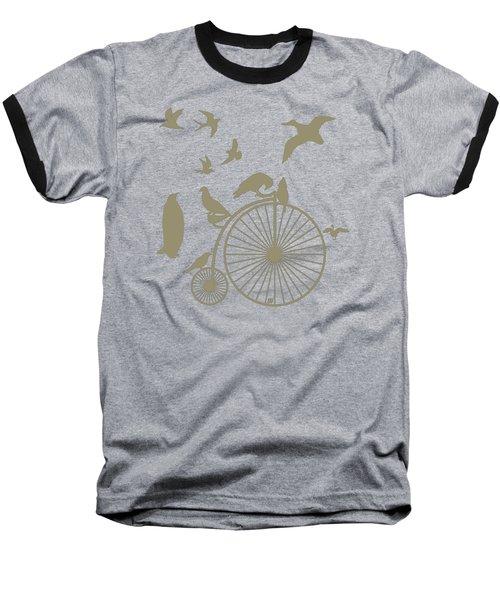 Dude The Birds Are Flocking Tan Transparent Background Baseball T-Shirt