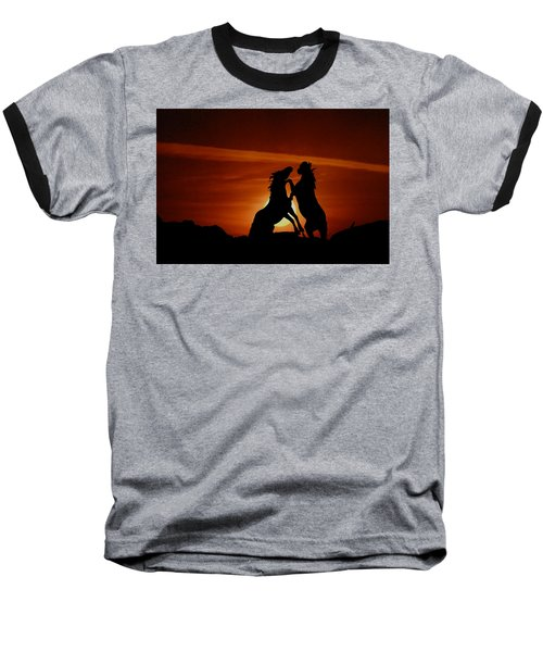 Duel At Sundown Baseball T-Shirt