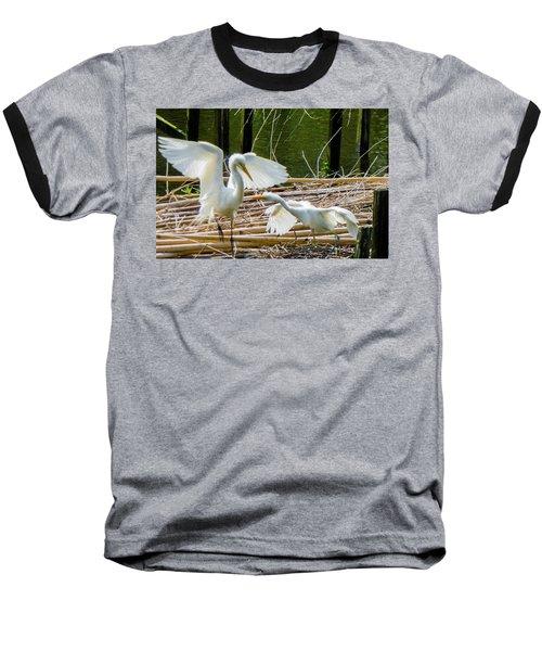 Dueling Bills Baseball T-Shirt by Kimo Fernandez