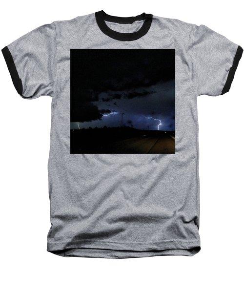 Dueling Lightning Bolts Baseball T-Shirt