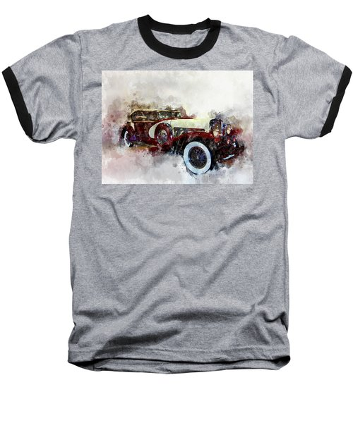 Duesenberg Watercolor Baseball T-Shirt