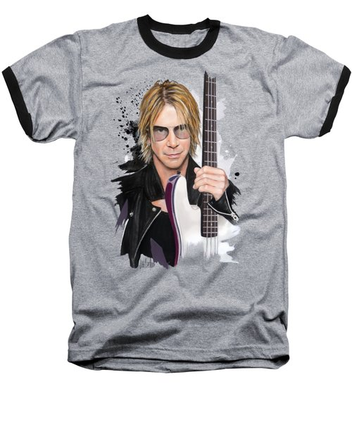 Duff Mckagan Baseball T-Shirt by Melanie D