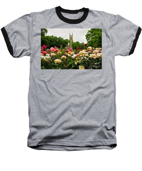 Duke Chapel And Roses Baseball T-Shirt