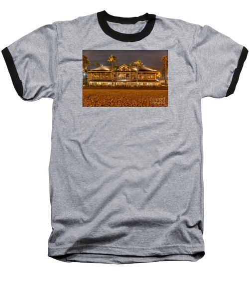 Duke's Restaurant Huntington Beach - Back Baseball T-Shirt by Jim Carrell