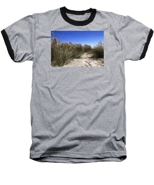 Baseball T-Shirt featuring the photograph Dune Grasses by Shirley Mitchell