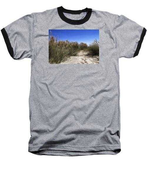 Dune Grasses Baseball T-Shirt by Shirley Mitchell