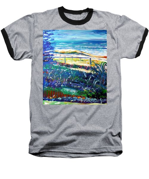 Baseball T-Shirt featuring the painting Dune Grasses by Winsome Gunning