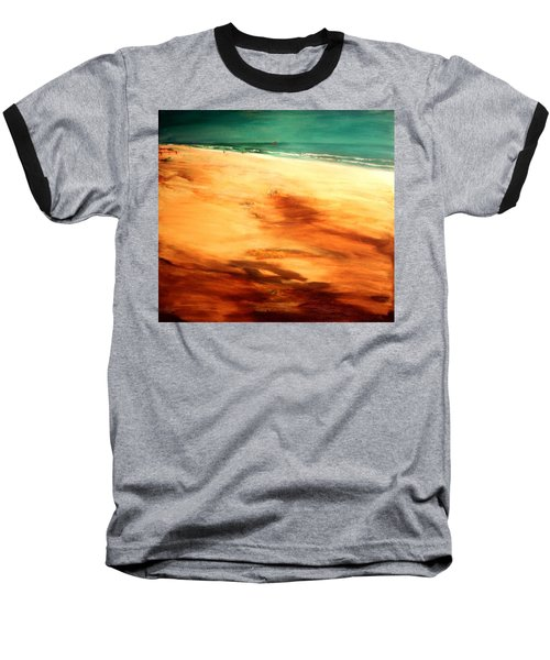 Baseball T-Shirt featuring the painting Dune Shadows by Winsome Gunning