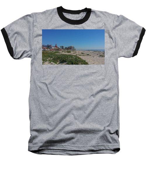 Dunes At The Del Baseball T-Shirt by Mark Barclay