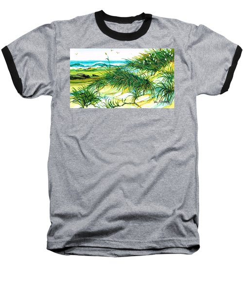Baseball T-Shirt featuring the painting Dunes by Val Stokes