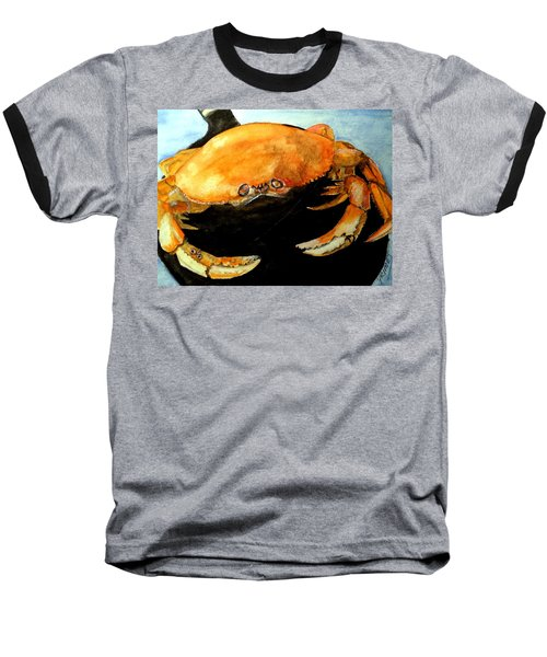 Baseball T-Shirt featuring the painting Dungeness For Dinner by Carol Grimes