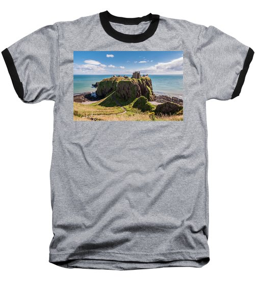 Baseball T-Shirt featuring the photograph Dunnotar Castle by Sergey Simanovsky