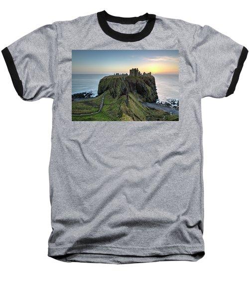 Dunnottar Castle At Sunrise Baseball T-Shirt
