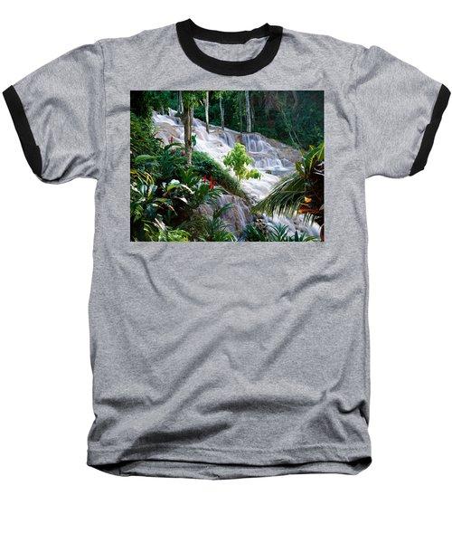 Dunn's River Falls Jamaica Baseball T-Shirt