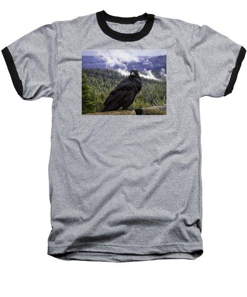 Dunraven Raven Baseball T-Shirt by Elizabeth Eldridge
