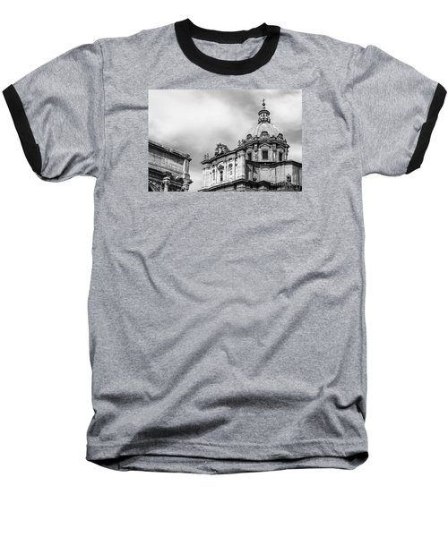 Duomo Of Santi Luca E Martina And Arch Of Septimius Severus  Baseball T-Shirt