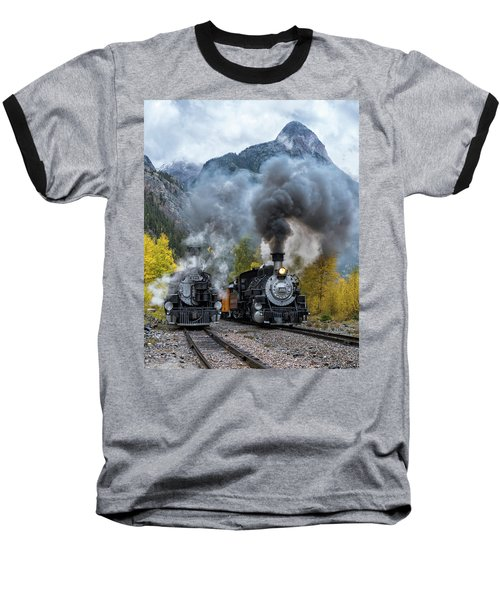 Durango Silverton Train Baseball T-Shirt
