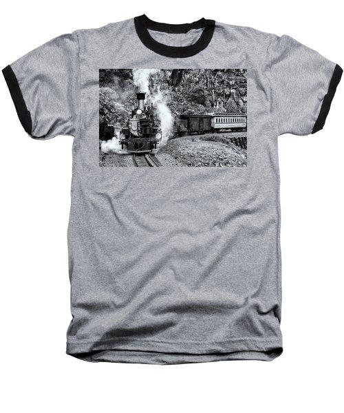 Durango Silverton Train Bandw Baseball T-Shirt