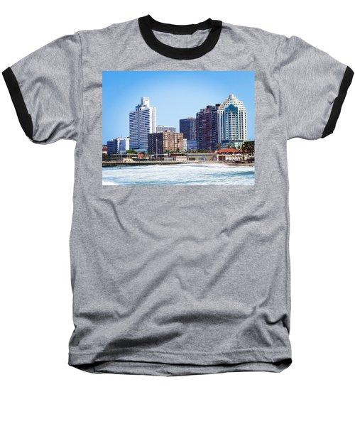 Durban Skyline From Bay Of Plenty Baseball T-Shirt