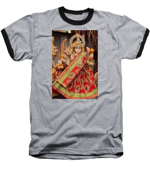 Durga In Madho Bhag, Mumbai Baseball T-Shirt by Jennifer Mazzucco