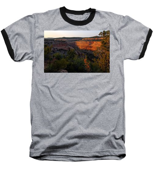 Dusk At Colorado National Monument Baseball T-Shirt