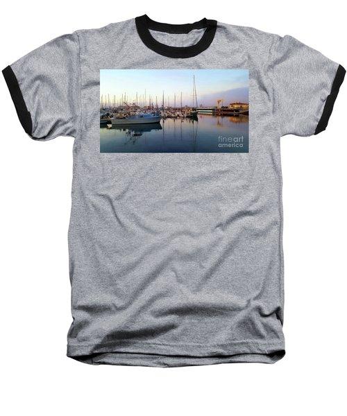 Dusk At Old Fisherman's Wharf Baseball T-Shirt by Gina Savage