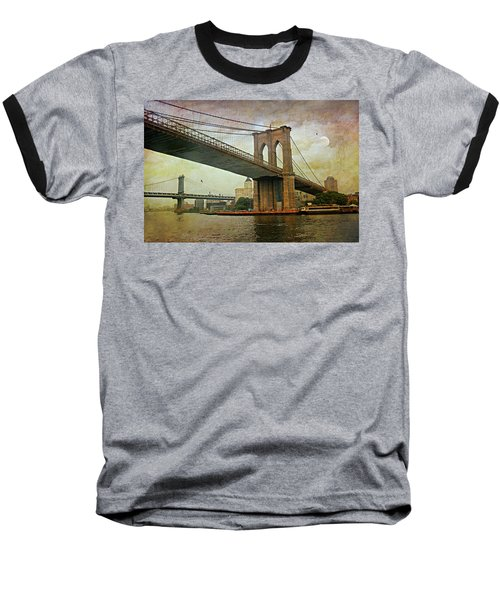 Dusk At The Bridge Baseball T-Shirt