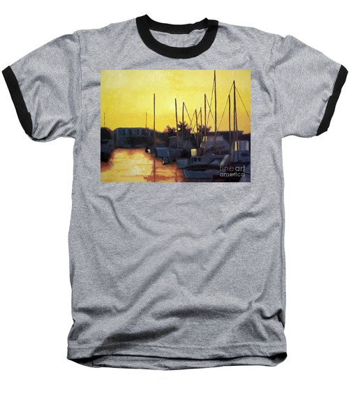 Dusk At The Marina Baseball T-Shirt