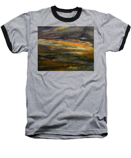 Dusk At The River Baseball T-Shirt