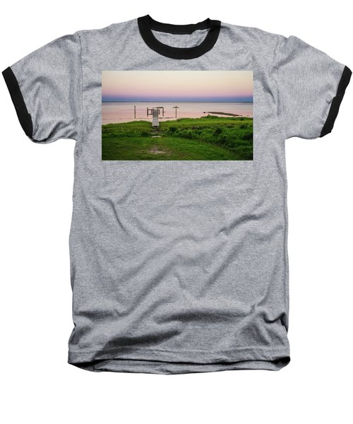 Dusk At Battle Point, Accomac, Virginia Baseball T-Shirt