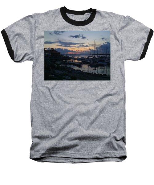Dusk Begins To Sleep Baseball T-Shirt by Felipe Adan Lerma